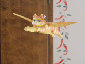 "One of several ""Flying Cats"" in our house"